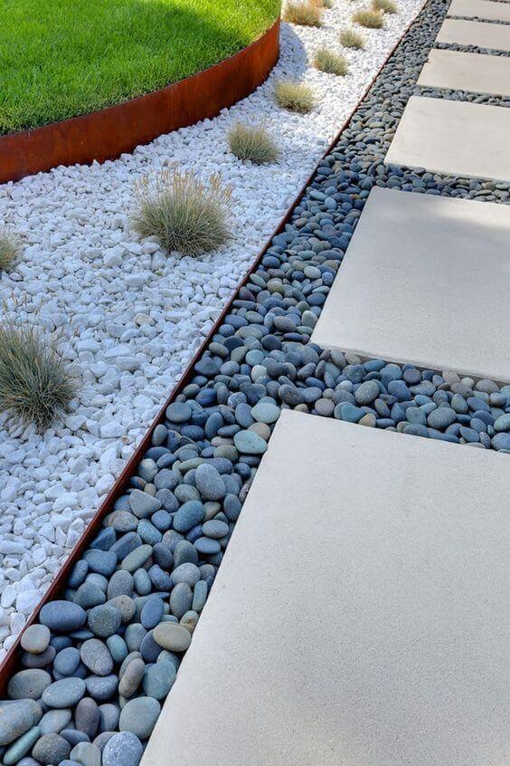 Gartenweg Steinplatten